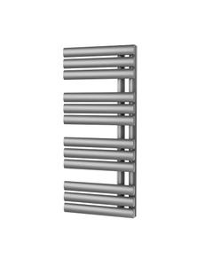 Trade Direct Saturn Triple Towel Rail, Silver, 880x500mm