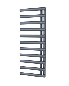 Trade Direct Saturn Offset Towel Rail, Anthracite, 1240x500mm