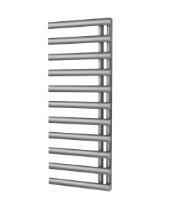 Trade Direct Saturn Offset Towel Rail, Silver, 1240x500mm