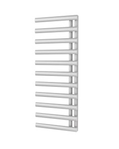 Trade Direct Saturn Offset Towel Rail, White, 1240x500mm (Electric)