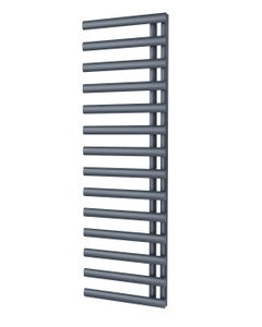 Trade Direct Saturn Offset Towel Rail, Anthracite, 1595x500mm