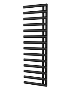 Trade Direct Saturn Offset Towel Rail, Black, 1595x500mm