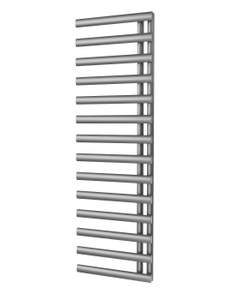Trade Direct Saturn Offset Towel Rail, Silver, 1595x500mm