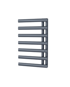 Trade Direct Saturn Offset Towel Rail, Anthracite, 760x500mm