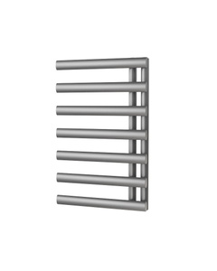 Trade Direct Saturn Offset Towel Rail, Silver, 760x500mm