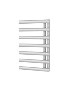 Trade Direct Saturn Offset Towel Rail, White, 760x500mm (Electric)