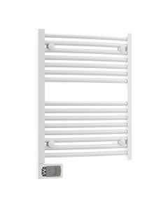 Nordic Towel Rail, White Curved, 718mm x 500mm (Electric)
