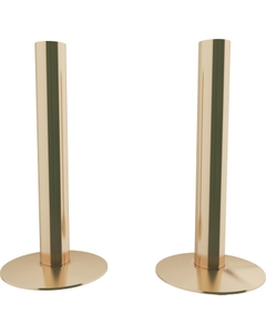 Trade Direct Polished Brass Pipe Covers 130mm (pair)