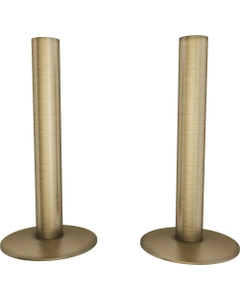 Trade Direct Antique Brass Pipe Covers 130mm (pair)