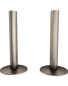 Trade Direct Natural Pewter Pipe Covers 130mm (pair)
