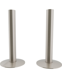 Trade Direct Satin Nickel Pipe Covers 130mm (pair)
