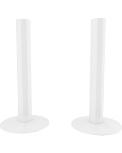 Trade Direct White Pipe Covers 130mm (pair)