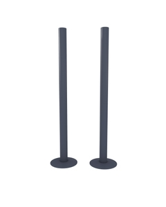 Trade Direct Anthracite Pipe Covers 300mm (pair)