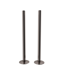Trade Direct Black Nickel Pipe Covers 300mm (pair)