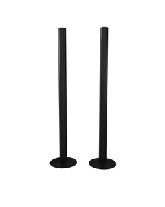 Trade Direct Black Pipe Covers 300mm (pair)
