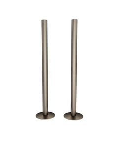 Trade Direct Natural Pewter Pipe Covers 300mm (pair)