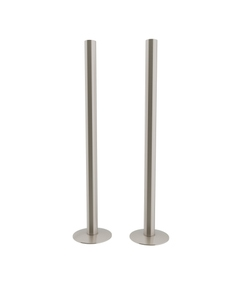 Trade Direct Satin Nickel Pipe Covers 300mm (pair)