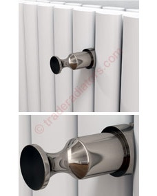 Trade Direct Polished Aluminium Robe Hook for Eliptical and Flat Tube Radiators