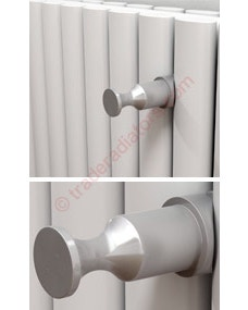 Trade Direct Satin Aluminium Robe Hook for Eliptical and Flat Tube Radiators