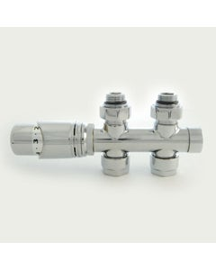 West Thermostatic Valves, Realm Twin, Chrome Straight