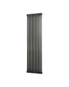 Trade Direct 2 Column Radiator, Raw Metal, 1800mm x 460mm