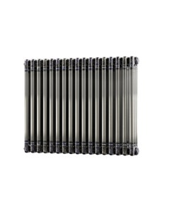 Trade Direct 3 Column Radiator, Raw Metal, 600mm x 777mm