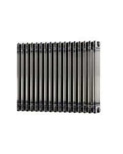Trade Direct 4 Column Radiator, Raw Metal, 600mm x 768mm