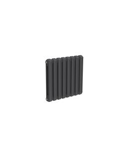 Reina Coneva Modern Column Radiator, Anthracite, 550mm x 580mm - Double Panel