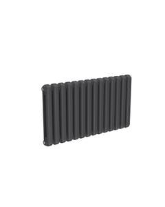 Reina Coneva Modern Column Radiator, Anthracite, 550mm x 1000mm - Double Panel