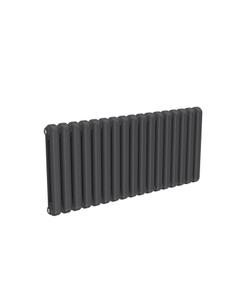 Reina Coneva Modern Column Radiator, Anthracite, 550mm x 1210mm - Double Panel