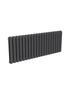 Reina Coneva Modern Column Radiator, Anthracite, 550mm x 1420mm - Double Panel