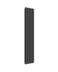 Reina Coneva Modern Column Radiator, Anthracite, 1500mm x 300mm - Double Panel