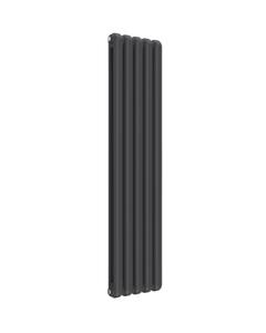 Reina Coneva Modern Column Radiator, Anthracite, 1500mm x 370mm - Double Panel