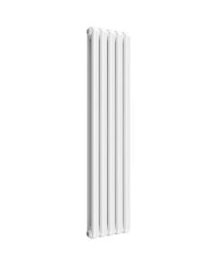 Reina Coneva Modern Column Radiator, White, 1500mm x 370mm - Double Panel