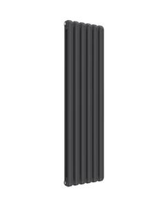 Reina Coneva Modern Column Radiator, Anthracite, 1500mm x 440mm - Double Panel