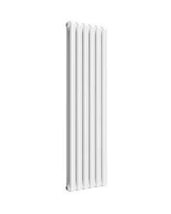 Reina Coneva Modern Column Radiator, White, 1500mm x 440mm - Double Panel
