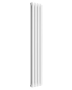 Reina Coneva Modern Column Radiator, White, 1800mm x 300mm - Double Panel