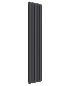 Reina Coneva Modern Column Radiator, Anthracite, 1800mm x 370mm - Double Panel