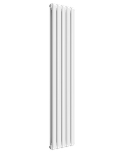 Reina Coneva Modern Column Radiator, White, 1800mm x 370mm - Double Panel