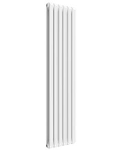 Reina Coneva Modern Column Radiator, White, 1800mm x 440mm - Double Panel
