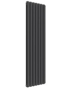 Reina Coneva Modern Column Radiator, Anthracite, 1800mm x 510mm - Double Panel