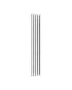 Reina Neva Designer Radiator, White, 1800mm x 295mm - Double Panel