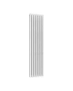 Reina Neva Designer Radiator, White, 1800mm x 413mm - Double Panel