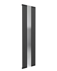 Reina Reflect Designer Radiator, Black, 1800mm x 449mm
