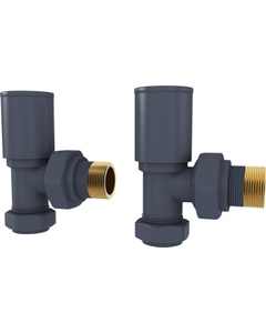 Trade Direct Manual Valves, Round, Anthracite Angled - 8mm