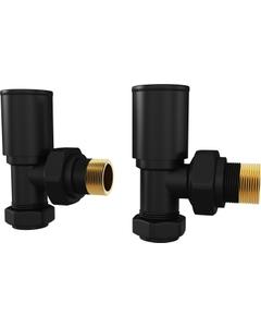 Trade Direct Manual Valves, Round, Black Angled - 10mm