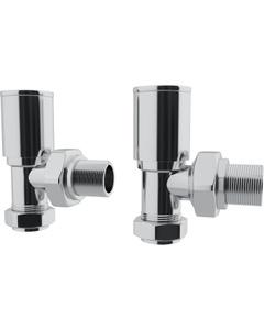 Trade Direct Manual Valves, Round, Chrome Angled  - 8mm