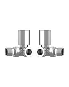 Trade Direct Manual Valves, Round, Chrome Corner  - 10mm