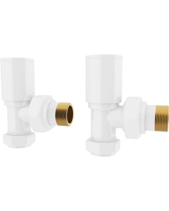 Trade Direct Manual Valves, Round, White Angled - 8mm