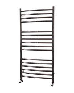 Trade Direct Towel Rail - 22mm, Stainless Steel Curved, 1000x500mm (Electric)
